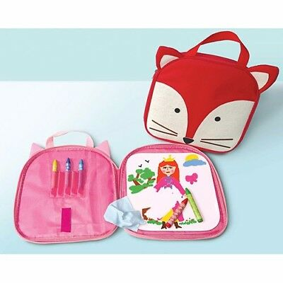 The Piggy Story Totie Fox Tote Portable Dry Erase Board w Crayons and Eraser](Erasers And Crayons)