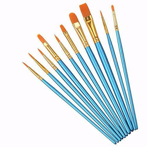 Best Model Miniature Paint Brushes - Small Detail Art Paint Brush Set - 10 pcs