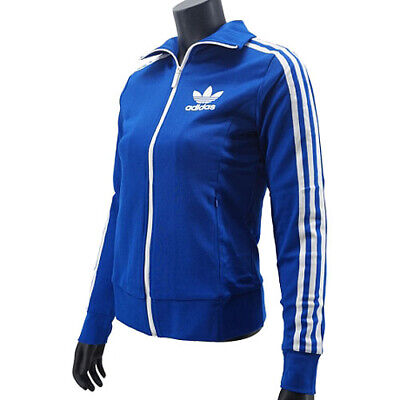 adidas Originals M30448 Women's Europa Track Top Bold Blue Jacket Size XS