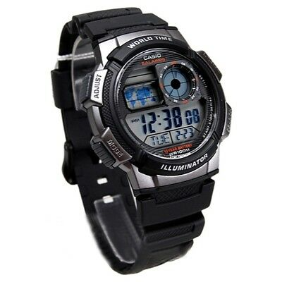 Casio Men's AE1000W-1BVCF Silver-Tone and Black Digital Sport Watch