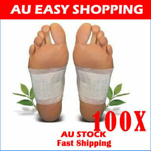 100-Pack-Detox-Foot-Patch-Pads-Natural-plant-Toxin-Removal-100-Sticky-Adhesives