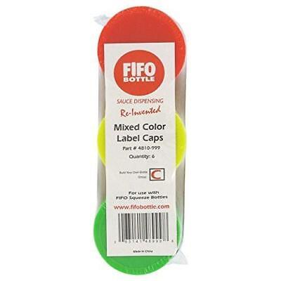 Colored Caps For Fifo Sauce Dispenser Bottles Pack Of 6 Colored Caps Red Yel