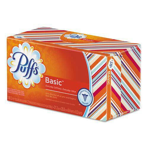 Puffs Basic 180 Sheet/Box 2-Ply Facial Tissue (24-Pack) 87611CT New