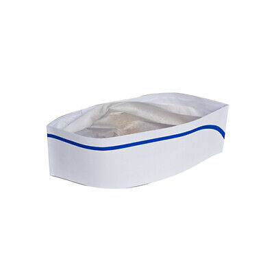 Royal Blue Stripe Classy White Chefs Capshats Pack Of 100 Rcc2