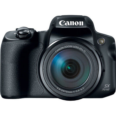 Canon PowerShot SX70 HS Digital Camera 65x Zoom 4K - Black -
