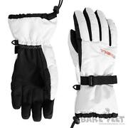 White Ski Gloves