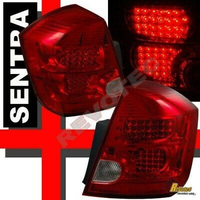 Red LED Tail Lights Lamps For 2007-2012 Nissan Sentra SE-R SPEC-V S RH +