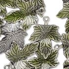 Green Silver Jewelry Making Charms