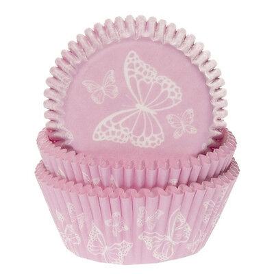 Muffinförmchen rosa mit Schmetterling 50 Stück Cupcake Förmchen