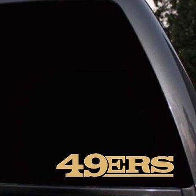 San Francisco 49ers SF 49ers Logo Script Car Window Truck Laptop Decal Sticker ()