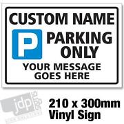 Personalised Parking Sign