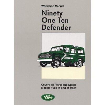 Land Rover 90 110 Defender Official Workshop Manual 1983-1992 MY book paper
