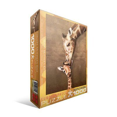 NEW Giraffe Mother s Kiss 1000-Piece Puzzle  on Rummage