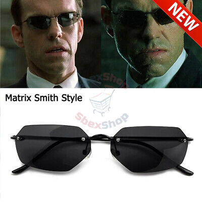 Mens Driving Vintage Classic The Matrix Agent Smith Style Polarized (Agent Smith Sunglasses)