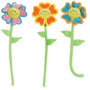 Bendable 22' Multi-Colored Plush Flowers