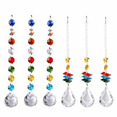 Octagonal Globe - Chandelier Chakra Suncatcher Crystal Ball Prisms Rainbow Octagon Beads 6PCS