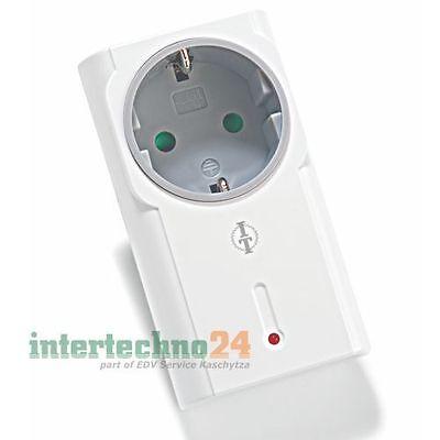 Intertechno Funk-Zwischenstecker Funksteckdose ITR-1500, max. 1500 Watt