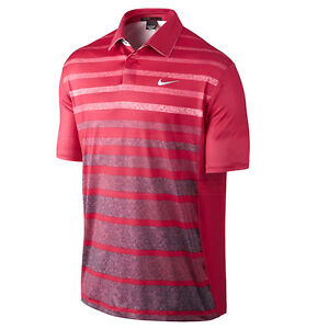 Nike Tiger Woods TW Stripe Polo Golf Shirt 518104