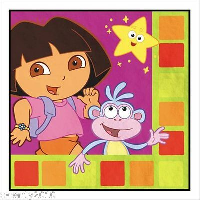 DORA THE EXPLORER Star Catcher LUNCH NAPKINS (16) ~ Birthday Party Supplies Nick ()