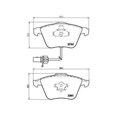 1 Bremsbelagsatz, Scheibenbremse BREMBO P 85 084 passend für AUDI SEAT SKODA VW