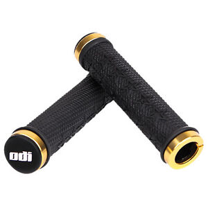 ODI THE MACHINE LOCK-ON GRIPS MARIS STROMBERGS BMX MTB BLACK GOLD