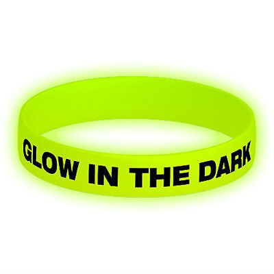 Personalized Glow In The Dark Wristbands (100 pcs 1/2
