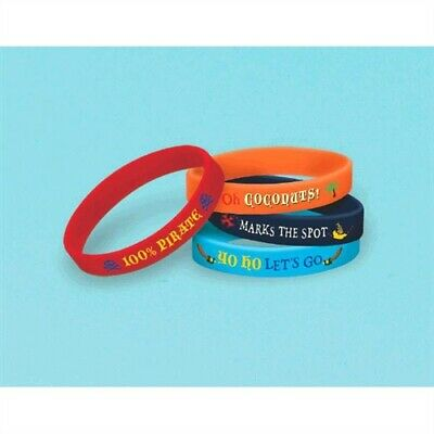 Jake Never land Pirates Rubber Bracelets Favor Boys Birthday Party Supplies  (Land Pirates)