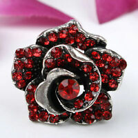 Red Amazing Cool Adjustable Cocktail Flower Ring--NEW!!