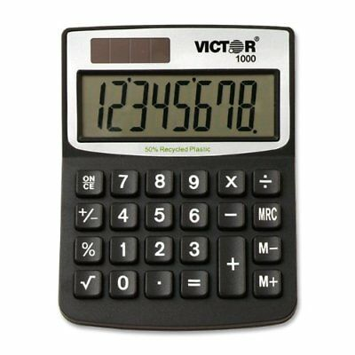 Victor 11000 Mini Desktop Calculator - 8 Character[s] - Lcd - Solar, (vct1000)