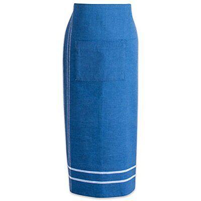 DII Cotton French Stripe Bistro Half Waist Apron with Pocket