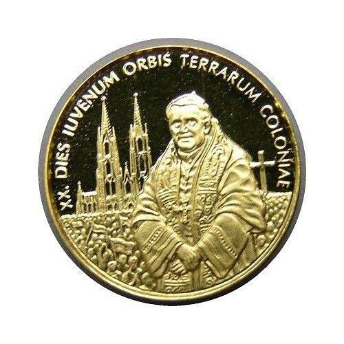 elf Somalia Republic 5 Dollars 2005 Proof Pope Benedict Gold