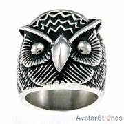 Mens Owl Ring
