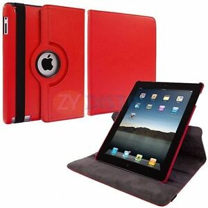 NEW RED 360 ROTATING PU LEATHER CASE COVER STAND FOR IPAD AIR Regina Regina Area image 2