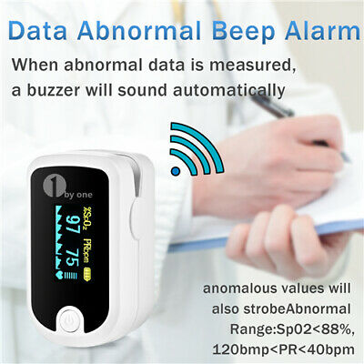 1byone Oled Finger Pulse Oximeter Blood Oxygen Meter Spo2 Heart Rate Monitor Us