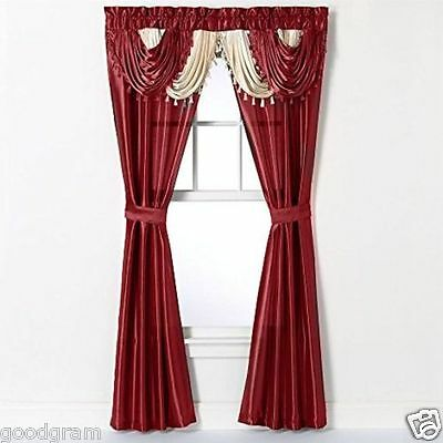 Disdainful Home Collections Amore 54-Inch by 84-Inch Window Set with Attached Valance