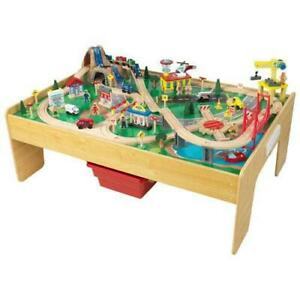 KidKraft 18025 Adventure Town Railway Train Set & Table (New other)
