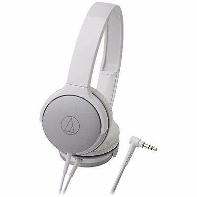 (audio technica ATH-AR1 Portable Folding On-Ear Headphones Silver White NEW F/S)