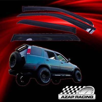 Fits 98-01 Honda CRV Slim Acrylic Window Visors 4Pc