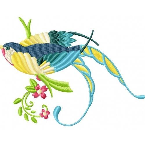 Embroidered Sweatshirt - Beautiful Birds PE19