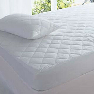 Single Mattress Topper (QUILTED MATTRESS PROTECTOR TOPPER LUXURY FITTED COVER SINGLE DOUBLE KING)