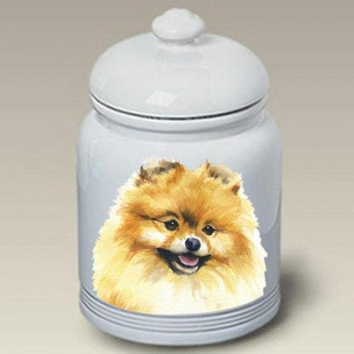 Pomeranian Ceramic Treat Jar BVV 23013