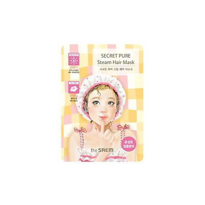 [THE SAEM] Secret Pure Steam Hair Mask 1 pcs [One-time] - Korea Cosmetics