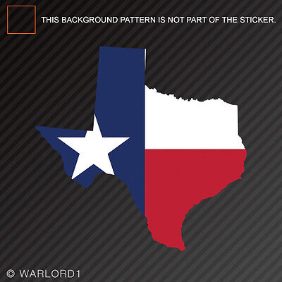 Texas State Shaped Flag Sticker Self Adhesive Vinyl Decal TX