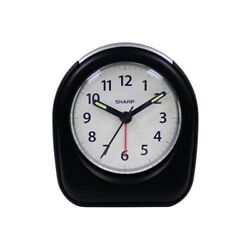 Sharp Quartz Analog Black Ascending Alarm Clock Battery Operated from US Seller