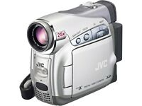 JVC GR-D270 MiniDV Camcorder w/25x Optical Zoom c/w wide angle lens, polarising filter & accessories