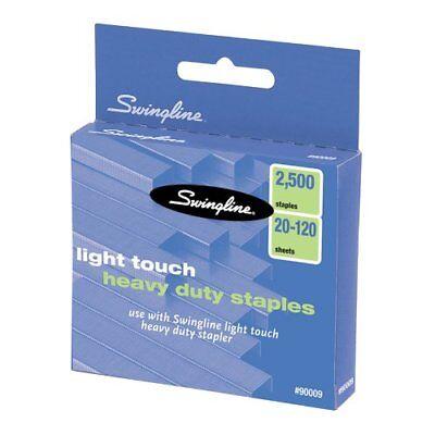 Swingline Lighttouch Heavy Duty Staples - 100 Per Strip - 0.63 Leg - Swi90009
