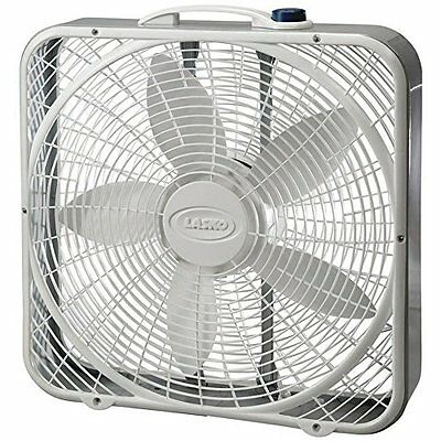 "Lasko 3723 20"" Premium Box Fan, White"