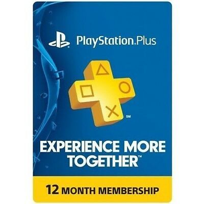 Playstation Plus 12 Month   Playstation 1 Year Membership  Instant Delivery
