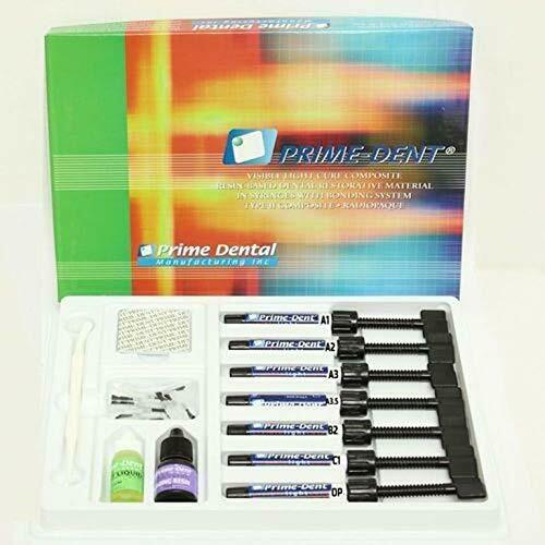 PRIME-DENT LIGHT CURE HYBRID DENTAL RESIN COMPOSITE 7 SYRINGE KIT FDA
