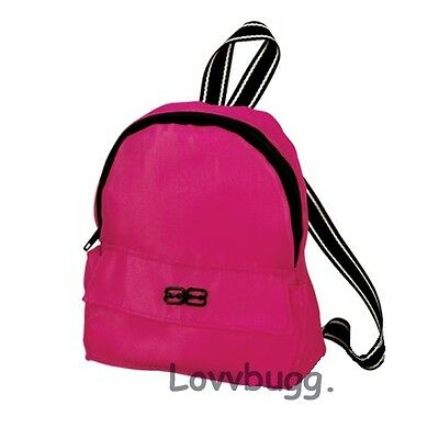 "Lovvbugg Hot Pink Backpack for 18"" American Girl Doll Accessory"